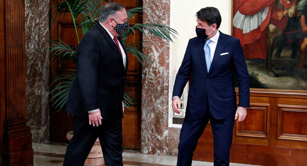 U.S. Secretary of State Mike Pompeo meets with Italy's Prime Minister Giuseppe Conte in Rome, Italy, September 30, 2020