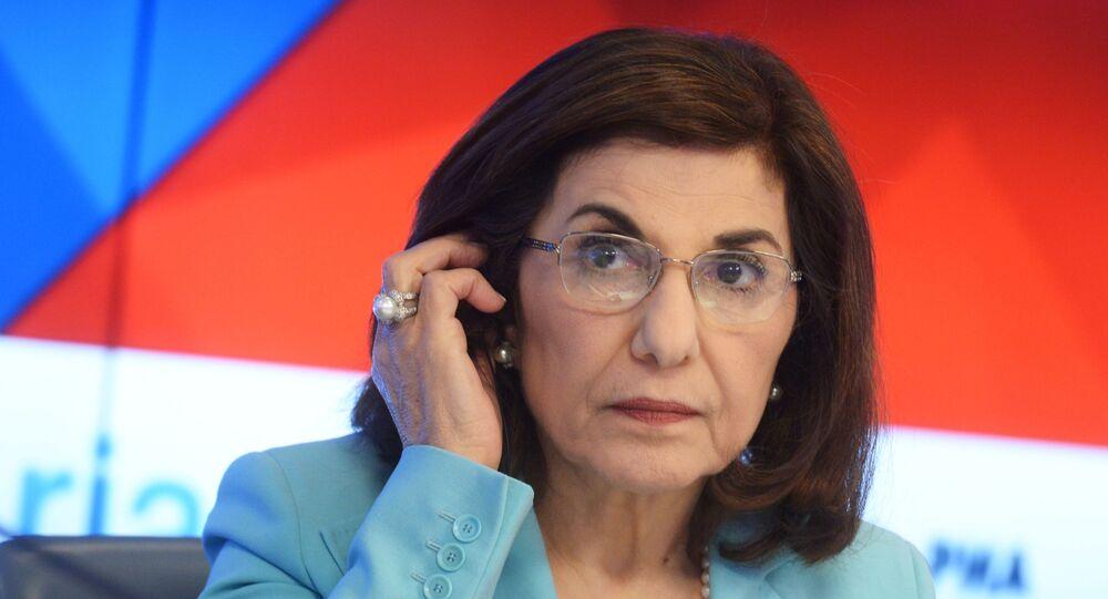 Bouthaina Shaaban, a political and media adviser to Syrian President Bashar Assad