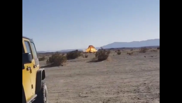 A US Marine Corps F-35B Joint Strike Fighter crashes into the desert near Salton City, California, on September 29, 2020 - Sputnik International