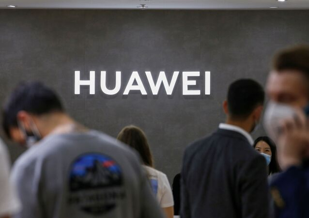 The Huawei logo is seen at the IFA consumer technology fair, amid the coronavirus disease (COVID-19) outbreak, in Berlin, Germany September 3, 2020
