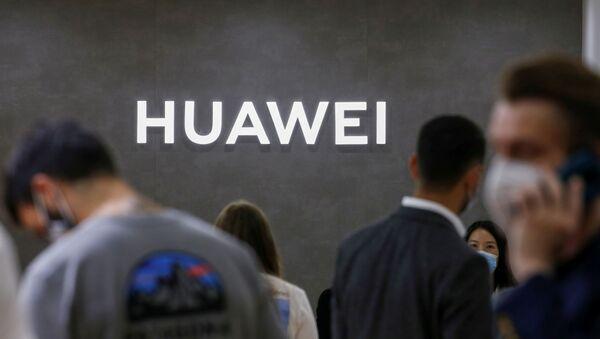 The Huawei logo is seen at the IFA consumer technology fair, amid the coronavirus disease (COVID-19) outbreak, in Berlin, Germany September 3, 2020 - Sputnik International