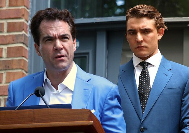 Jacob Wohl and Jack Burkman press conference collage