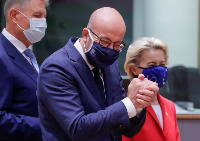 European Council President Charles Michel reacts at the start of the second face-to-face European Union summit since the coronavirus disease (COVID-19) outbreak, in Brussels, Belgium October 1, 2020.