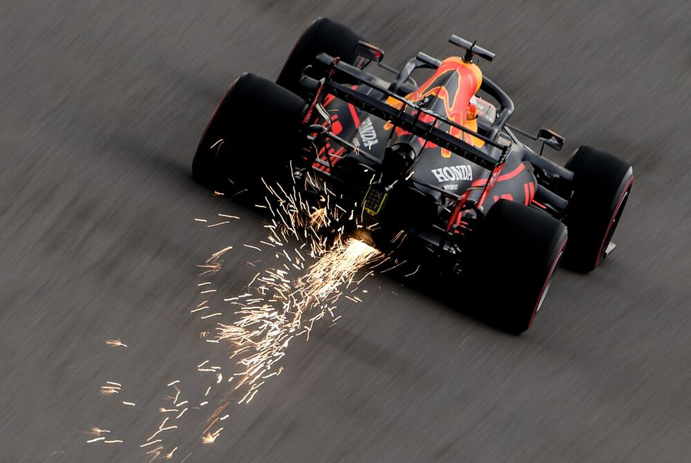 'Red Bull' pilot Max Verstappen takes part in the Formula 1 Grand Prix 2020 in Russia.
