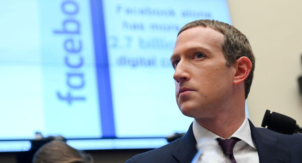 Facebook Chairman and CEO Mark Zuckerberg testifies at a House Financial Services Committee hearing in Washington, US, 23 October 2019.