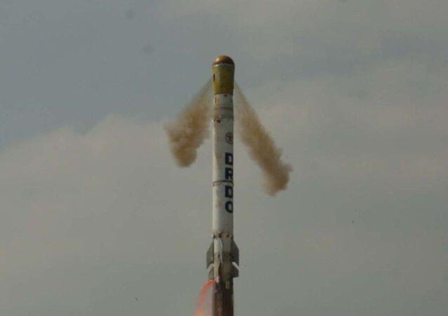 'Shourya' missile test fired on 12 November 2008.