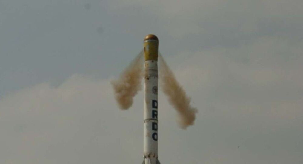 'Shourya' missile test fired on 12 November 2008.