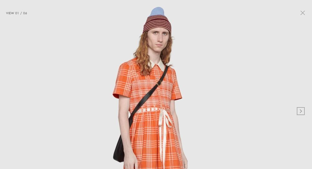 Tartan cotton long smock shirt
