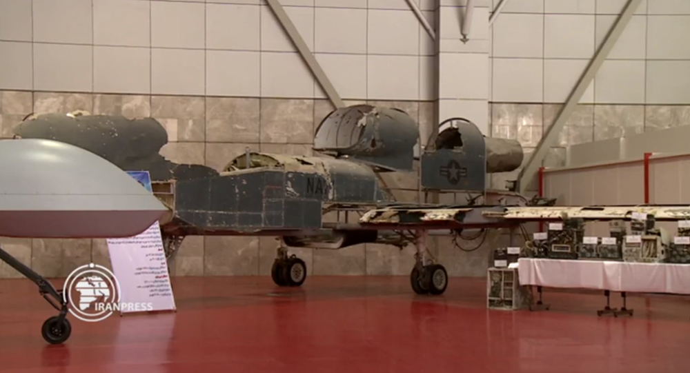Painstakingly reconstructed remnants of US drone shot down over Iran by a domestically-made air defence system.