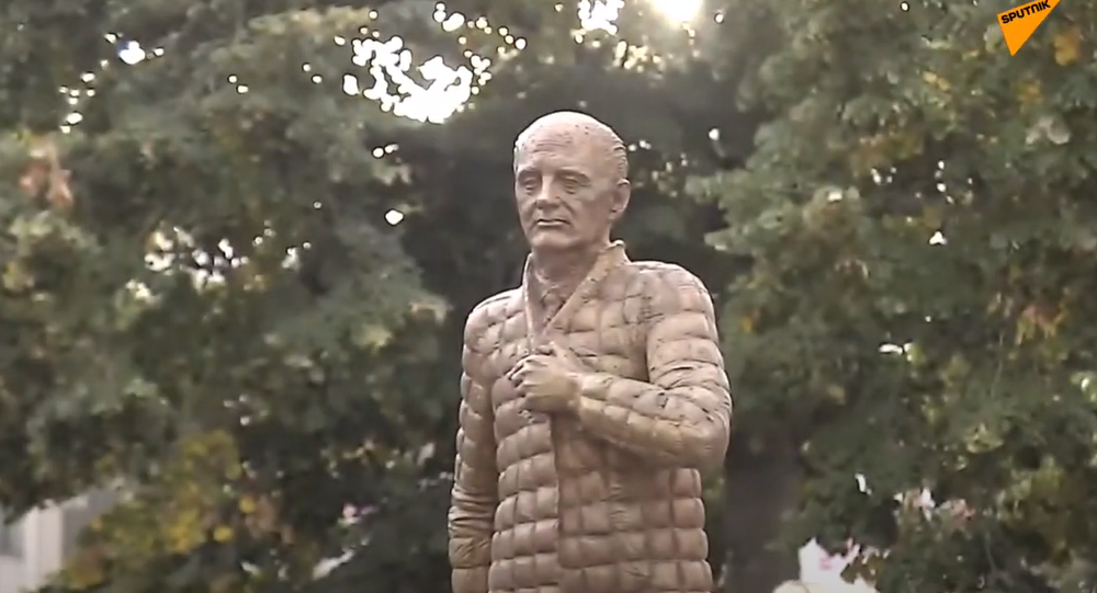 Statue of Mikhail Gorbachev unveiled in the German town of Dessau.