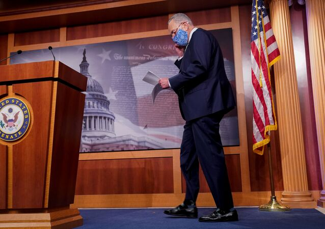 U.S. Senate Minority Leader Chuck Schumer (D-NY) arrives to a news conference at the U.S. Capitol in Washington, U.S. October 1, 2020.