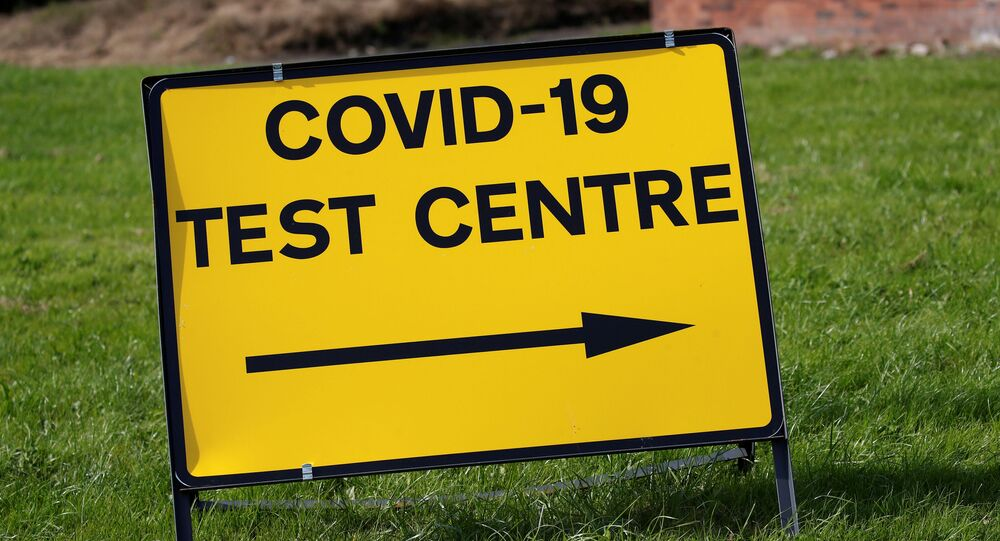 A sign is seen outside a walk-in test facility following the outbreak of the coronavirus disease (COVID-19) in the Farnworth area of Bolton, Britain, September 15, 2020