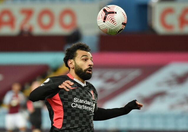 Liverpool's Mohamed Salah in action