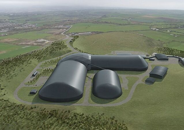 An artist's impression of the proposed Woodhouse colliery in Cumbria