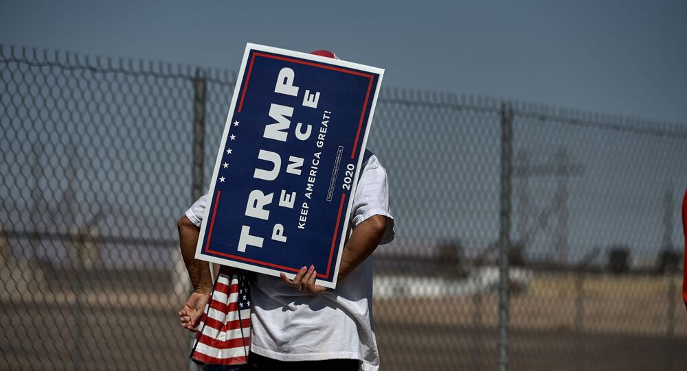 Suspicious devices on Trump signs were theft alarms