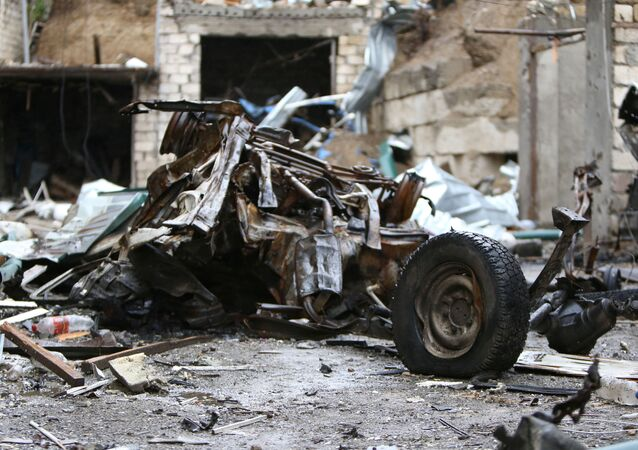 Aftermath of recent shelling during a military conflict over the breakaway region of Nagorno-Karabakh, in Stepanakert October 6, 2020. Vahram Baghdasaryan/Photolure via REUTERS