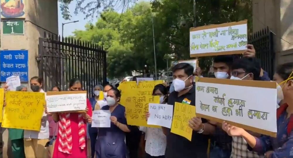 Doctors on COVID duty at Delhi's Hindu Rao hospital, not paid salary for 4 months, protest against North MCD administration