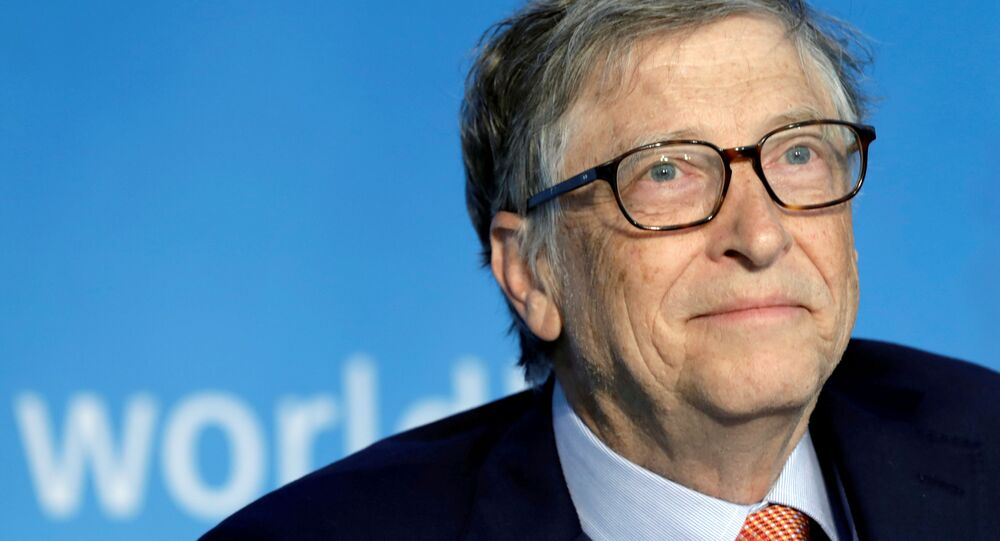 Bill Gates, co-chair of the Bill & Melinda Gates Foundation; attends a panel discussion on Building Human Capital during the IMF/World Bank spring meeting in Washington, U.S., April 21, 2018