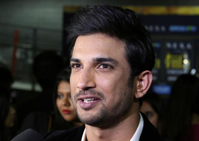 FILE PHOTO: Actor Sushant Singh talks to the media on the green carpet at the International Indian Film Academy Rocks show at MetLife Stadium in East Rutherford, New Jersey, U.S., July 14, 2017