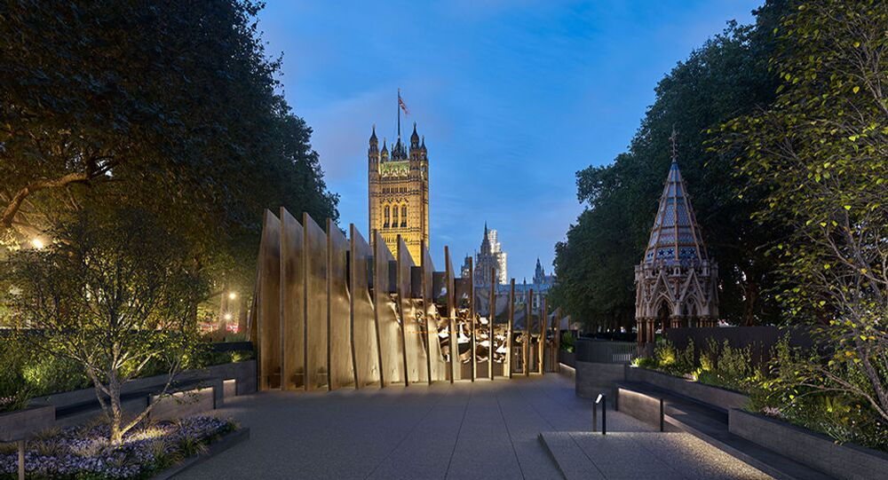 The planned Holocaust Memorial in Victoria Tower Gardens, London