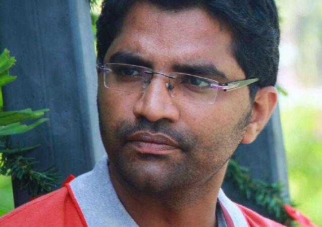Filmmaker Sajib Baabu and still of the movie - Biriyaani