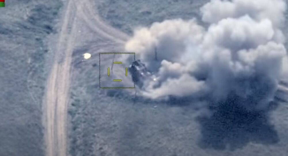 Azerbaijan Ministry of Defence posts video of alleged destruction of Armenian armoured column