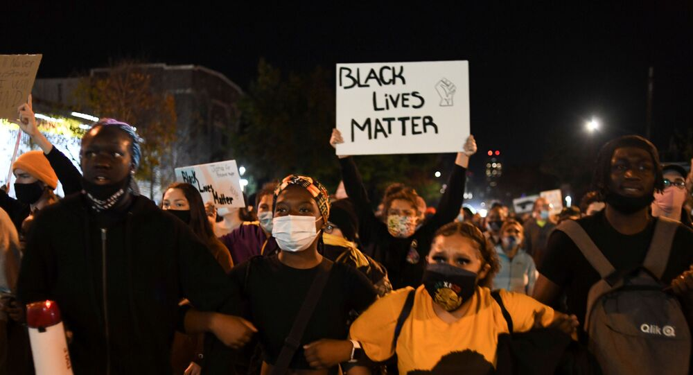 Demonstrators march through south Minneapolis in response to former Minneapolis police officer Derek Chauvin, who is charged with George Floyd?s murder, having posted bail earlier today in Minneapolis, Minnesota, U.S. October 7, 2020