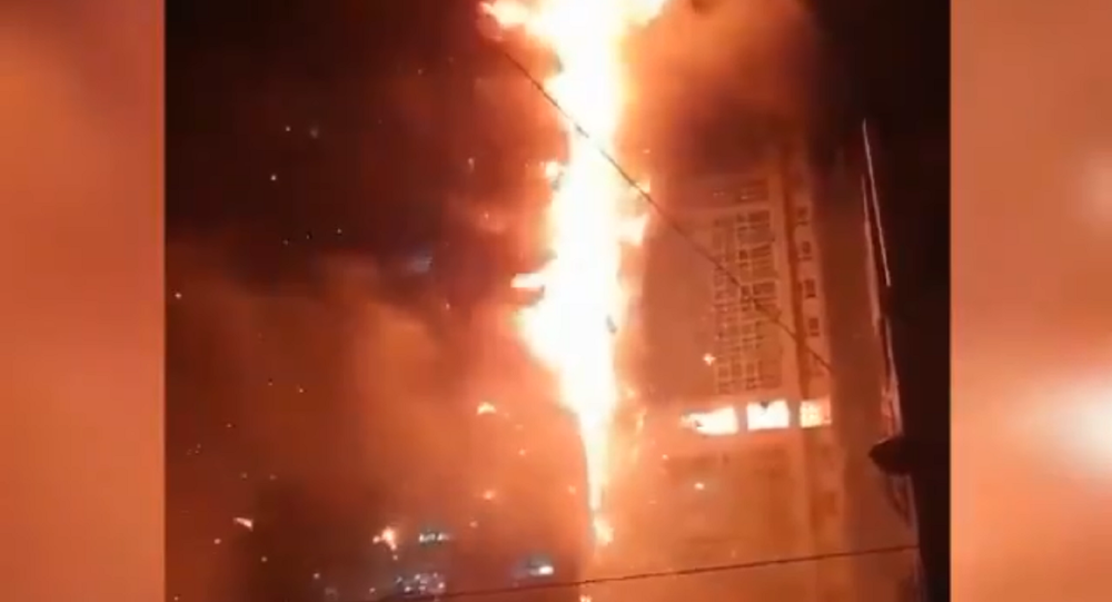 Almost 100 hurt in S.Korean high-rise fire