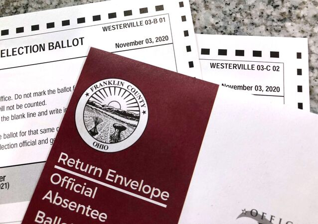 This photo made on Oct. 6, 2020, in Westerville, Ohio, shows Ohio absentee ballots. Two voters registered at the same address in the Columbus suburb of Westerville, Ohio, were mailed these absentee ballots for the 2020 general election that didn't match their assigned precinct number, as shown by the designation in the top right corner of the ballots they received on Tuesday, Oct. 6, 2020.