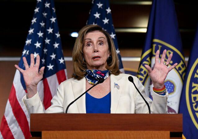U.S. House Speaker Nancy Pelosi (D-CA) participates in a news conference at the U.S. Capitol in Washington, U.S. October 1, 2020.