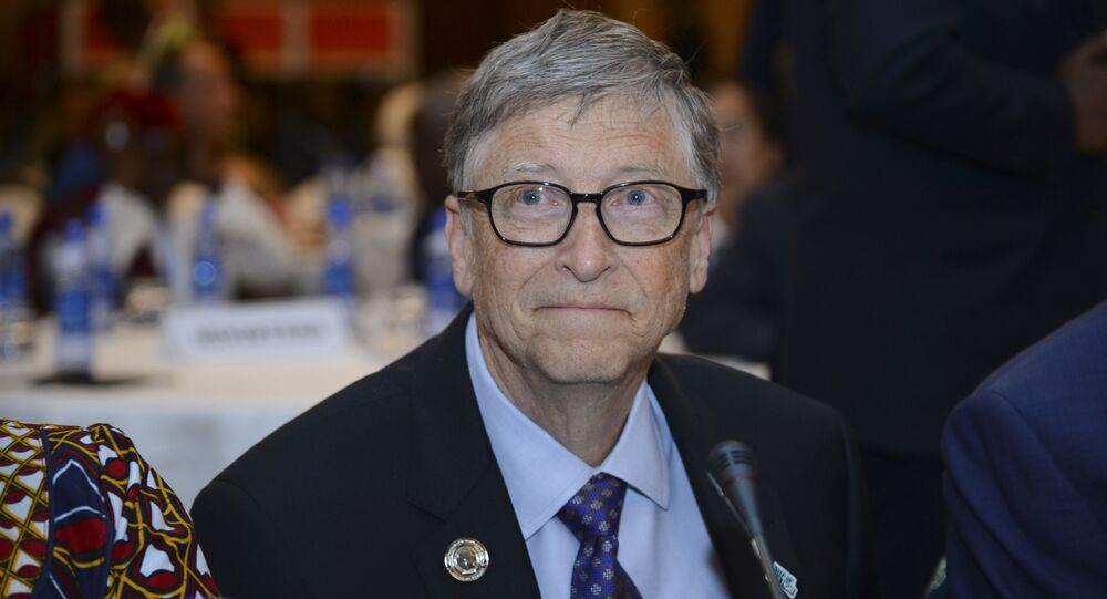 Bill Gates, chairman of the Bill & Melinda Gates Foundation, attends the Africa Leadership Meeting - Investing in Health Outcomes held at a hotel in Addis Ababa, Ethiopia, 9 February 2019.