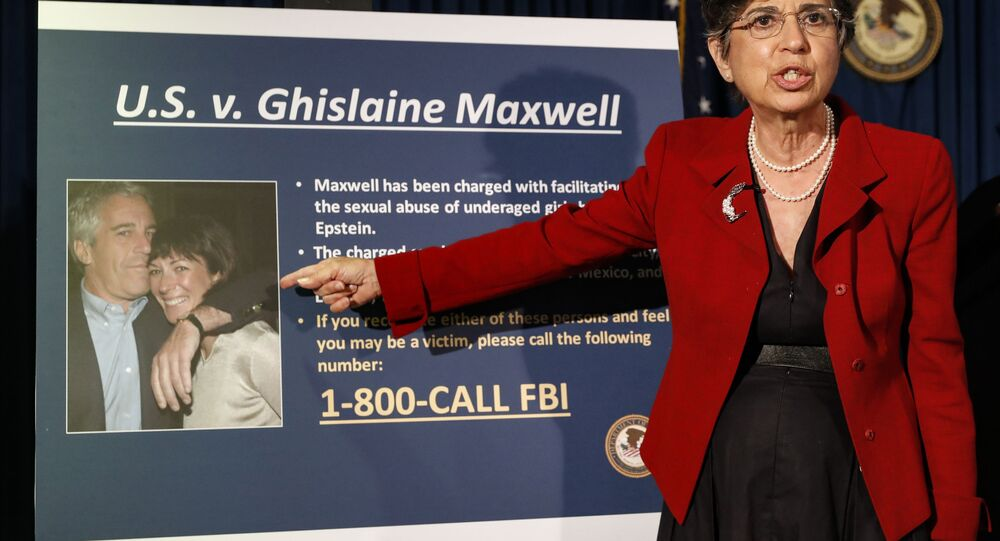 In this July 2, 2020 file photo, Audrey Strauss, Acting United States Attorney for the Southern District of New York, speaks during a news conference in New York, to announce charges against Ghislaine Maxwell for her alleged role in the sexual exploitation and abuse of multiple minor girls by Jeffrey Epstein