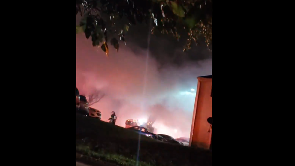 Screenshot from a video showing alleged aftermath of a gas explosion in Baltimore, 11 October 2020 - Sputnik International