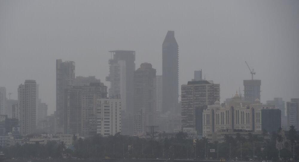 General view of Mumbai on June 3, 2020 as cyclone Nisarga barrels towards India's western coast.