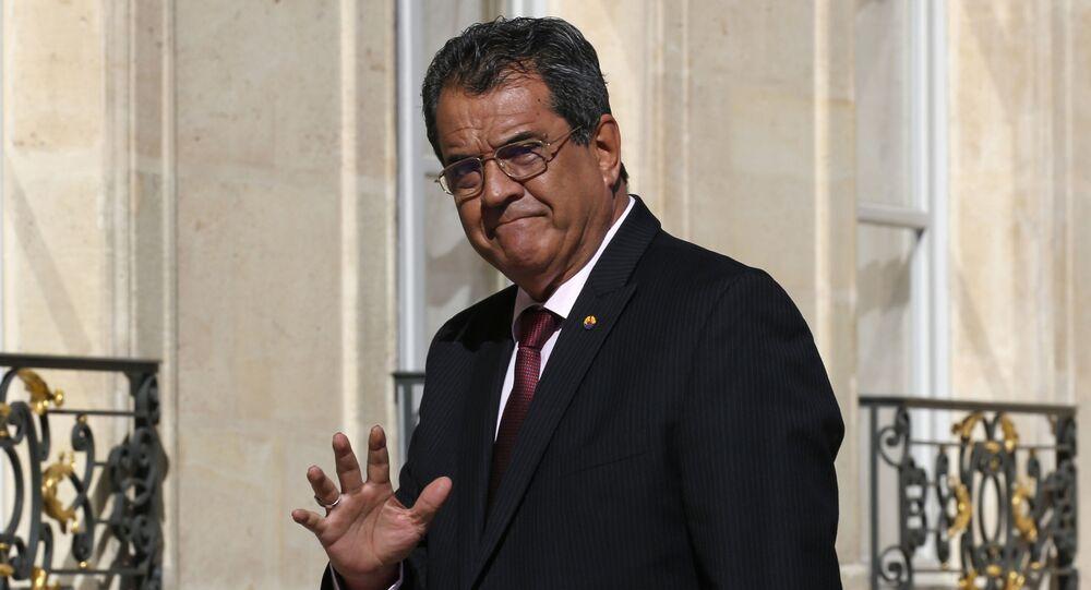 Edouard Fritch, President of French Polynesia, arrives for a meeting at the Elysee Palace in Paris, France, 5 July 2019