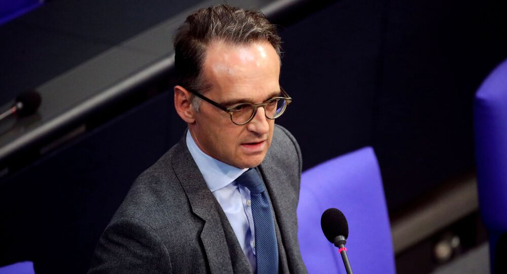 German Foreign Minister Heiko Maas speaks at a session of the German lower house of parliament Bundestag in Berlin, Germany, October 7, 2020.