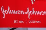 The company logo for Johnson & Johnson is displayed to celebrate the 75th anniversary of the company's listing at the New York Stock Exchange (NYSE) in New York, U.S., September 17, 2019.