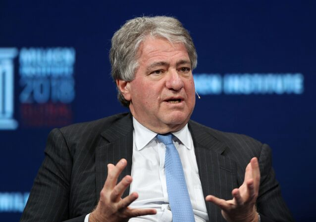 Leon Black, Chairman, CEO and Director of Apollo Global Management, LLC, speaks at the Milken Institute's 21st Global Conference in Beverly Hills, California, 1 May 2018.