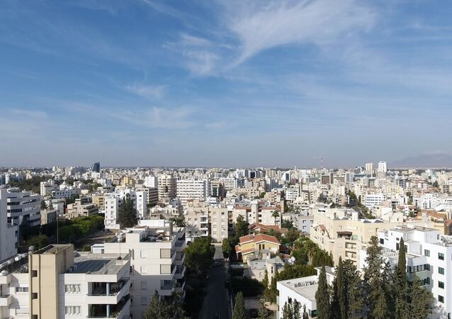 This file photo taken on November 9, 2016 shows an aerial view of the Cypriot capital Nicosia. - Cyprus said on October 13, 2020 it will scrap its citizenship scheme for foreign investors next month over alleged abuses uncovered in a television programme.
