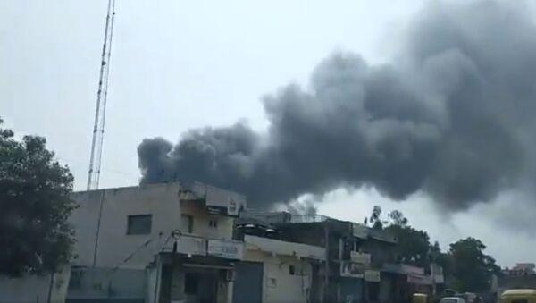 A major fire was reported at Tulip Estate on Ahmedabad-Changodar Road at 12.30 pm - Sputnik International