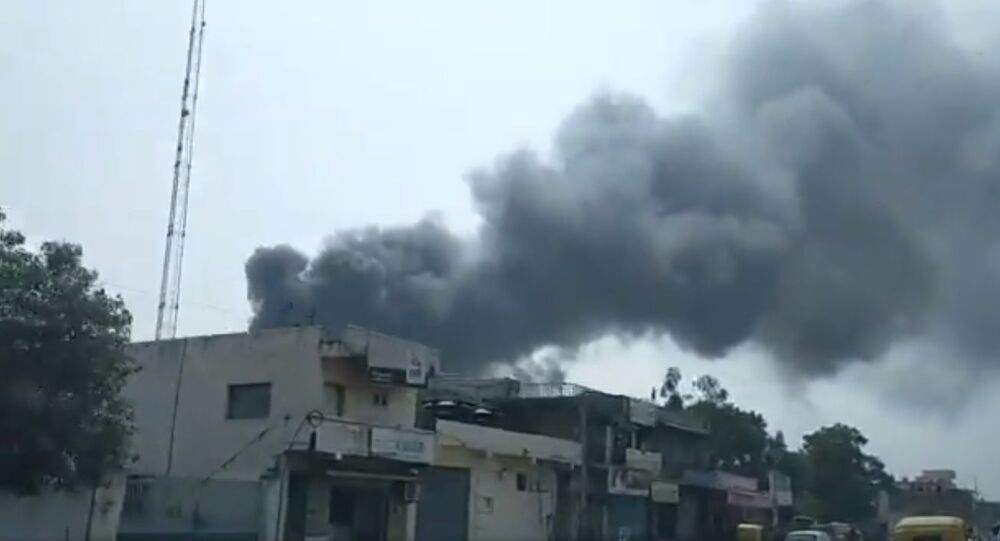A major fire was reported at Tulip Estate on Ahmedabad-Changodar Road at 12.30 pm