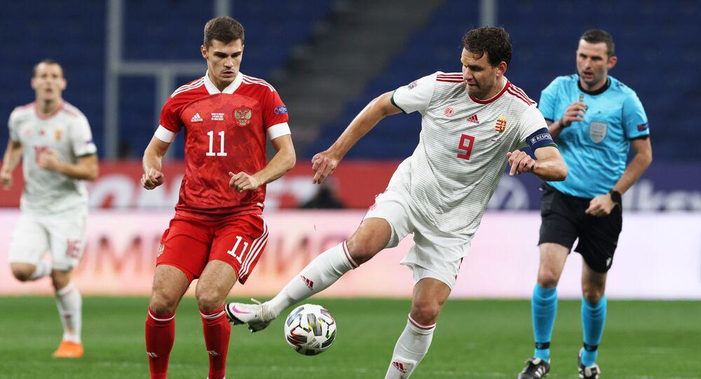 Soccer Football - UEFA Nations League - League B - Group 3 - Russia v Hungary - Lev Yashin Stadium, Moscow, Russia - October 14, 2020
