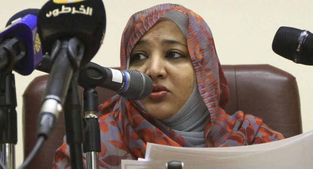 Widad Babikir, Sudan's first lady and wife of President Omar al-Bashir (File)