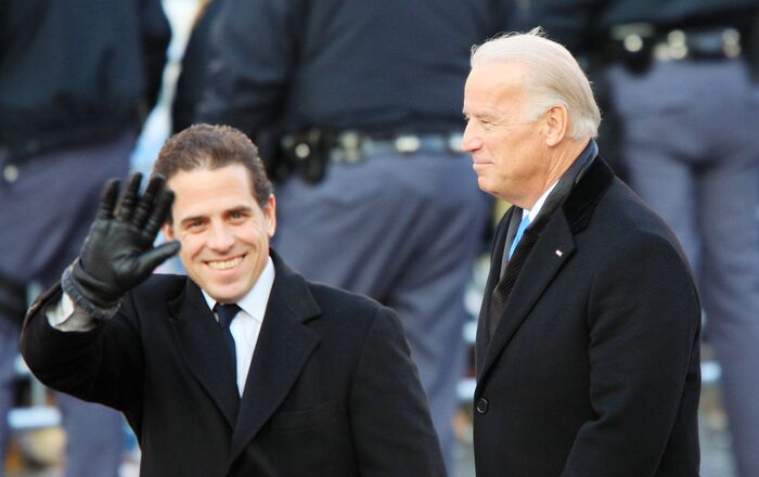 Vice President Joe Biden and sons Hunter Biden (L) and Beau Biden walk in the Inaugural Parade January 20, 2009 in Washington, DC. Barack Obama was sworn in as the 44th President of the United States, becoming the first African-American to be elected President of the US