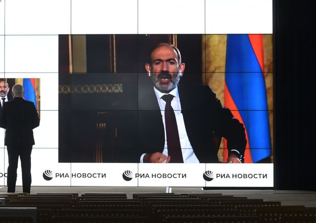 Armenian PM Pahinyan during exclusive interview with Sputnik