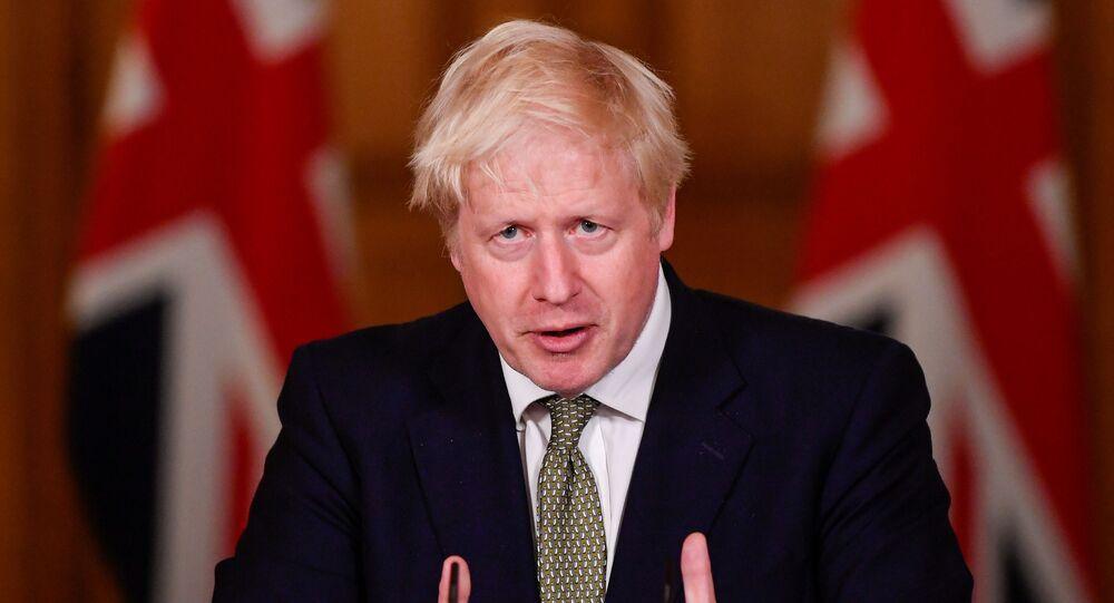 Britain's Prime Minister Boris Johnson in London, Britain October 12, 2020
