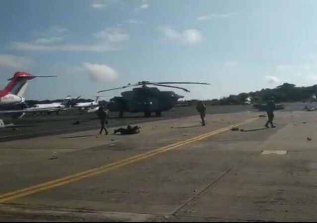 Aftermath of Mexican Mi-17 helicopter crash-landing