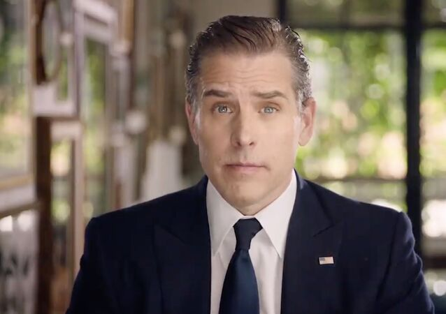 This video grab made on 20 August 2020 from the online broadcast of the Democratic National Convention, which was held virtually amid the novel coronavirus pandemic, shows former vice president and Democratic presidential nominee Joe Biden's son Hunter Biden speaking during the last day of the convention.