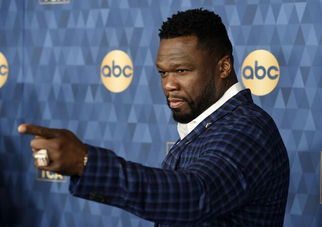 Curtis 50 Cent Jackson, a cast member in the ABC television series For Life, poses at the 2020 ABC Television Critics Association Winter Press Tour, Wednesday, Jan. 8, 2020, in Pasadena, Calif.