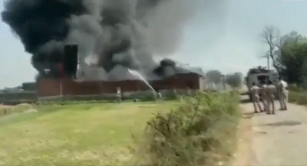 A fire has broken out at a chemical factory in Meerut's Kharkhauda